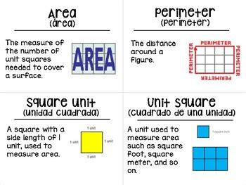 printable area word area and perimeter vocabulary go math by