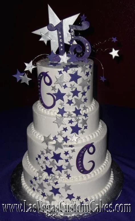 quinceanera themes under the stars star themed cake idea madison s 10th birthday under the