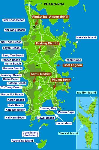 phuket travel tips thailand    map