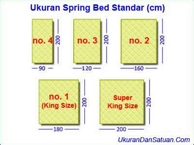 Kasur Central Ukuran No 1 ukuran bed standar ukuran dan satuan