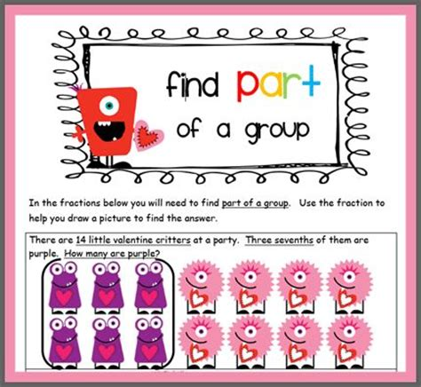 worksheets fractions of groups fractions teaching math fractions
