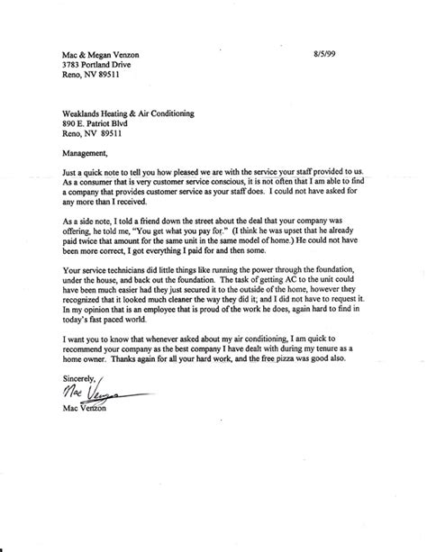 Thank You Letter For Hvac Weaklands Heating Air Conditioning 775 853 0304 Weaklands Residential Commercial Repairs Upgrades