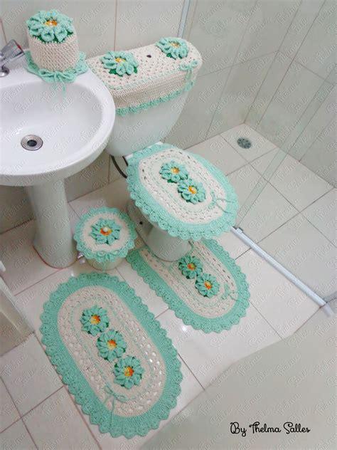jogo de almofada de barbante jogo de banheiro de barbante em croch 234 thelma salles