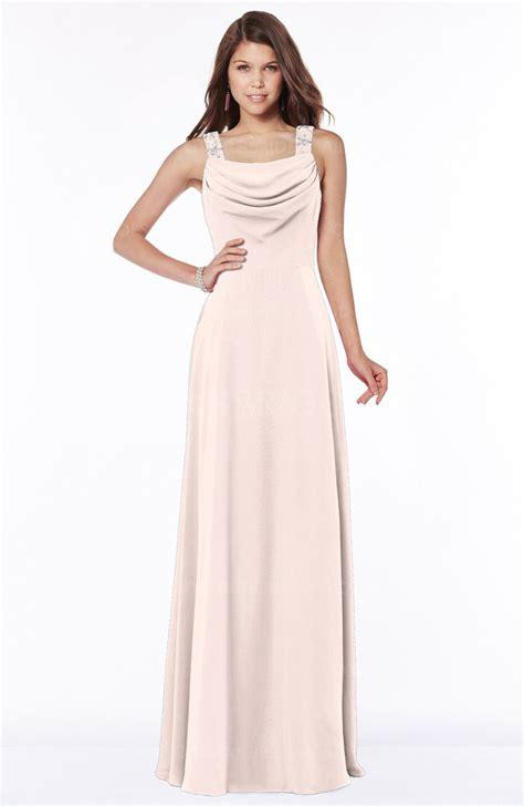 beaded chiffon bridesmaid dresses silver peony wide square sleeveless half backless