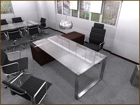glass executive desk office furniture decorating office space at work with glass computer desks
