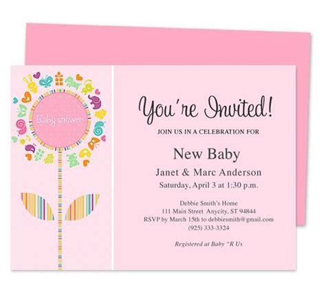 publisher templates for baby shower 42 best baby shower invitation templates images on