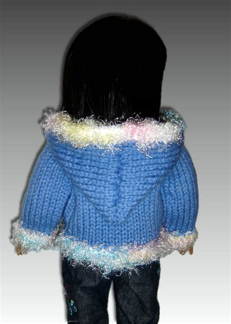 18 inch doll clothes knitting patterns knitting pattern doll hoodie fits american and 18