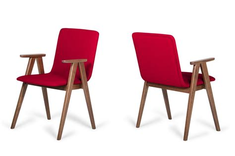 Modern Walnut Dining Chairs Maddox Modern Walnut Dining Chair Set Of 2 Chairs Armchairs Vgmami 562a 2