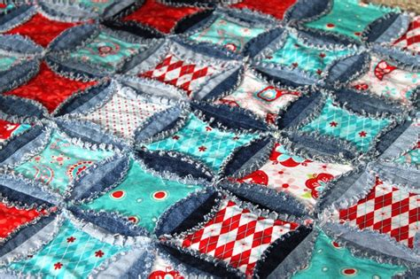 Denim Rag Quilt Pattern by Quilt Pattern Denim Circle Rag Quilt Rag Quilts
