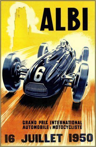 1325268909 art automobile a monaco grand prix d albi 1950 vintage poster art print