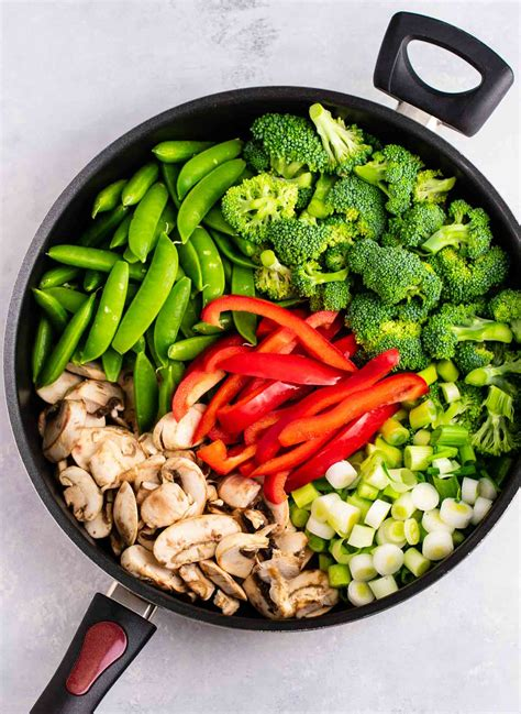 stir fry vegetables recipe build your bite