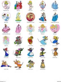 free machine embroidery downloads cinderella mermaid sleeping 75