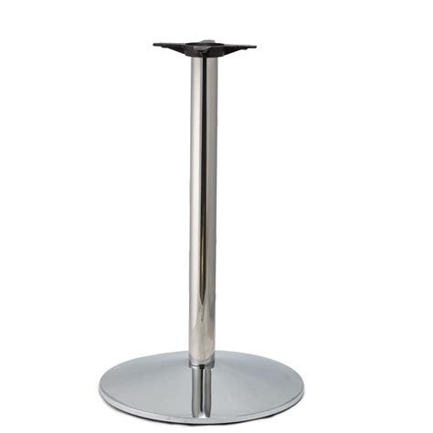 counter height table base cr22 chrome medium weight table base counter height 34 3 4 quot tablebases quality