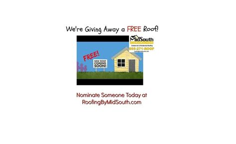 Free Roof Giveaway - nominations now open for all residents of davidson rutherford counties free roof