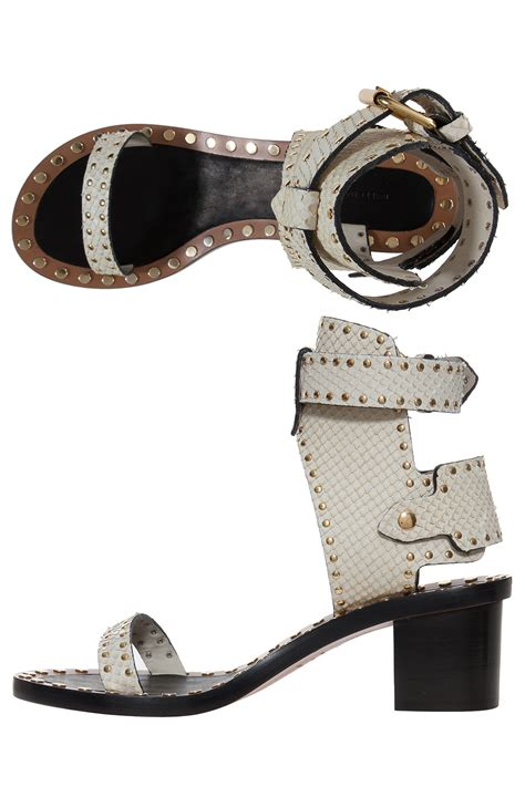 marant sandals lyst marant jaeryn sandals in