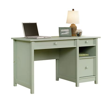 Office Depot Sauder Desk Sauder Cottage Desk Rainwater Soft Green By Office Depot Officemax