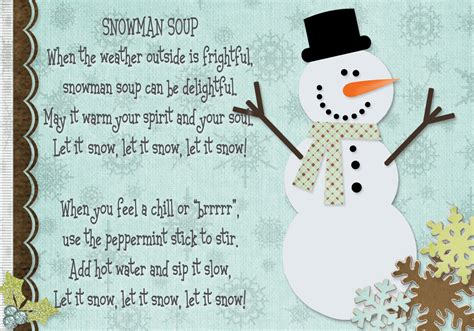 printable soup recipes 7 best images of snowman soup printable free printable