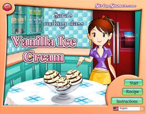 game membuat ice cream sara sara s cooking class vanilla ice cream download