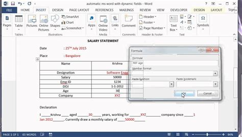 Create A Word Document Template With Fields by How To Create Ms Word Document Automatically With Dynamic
