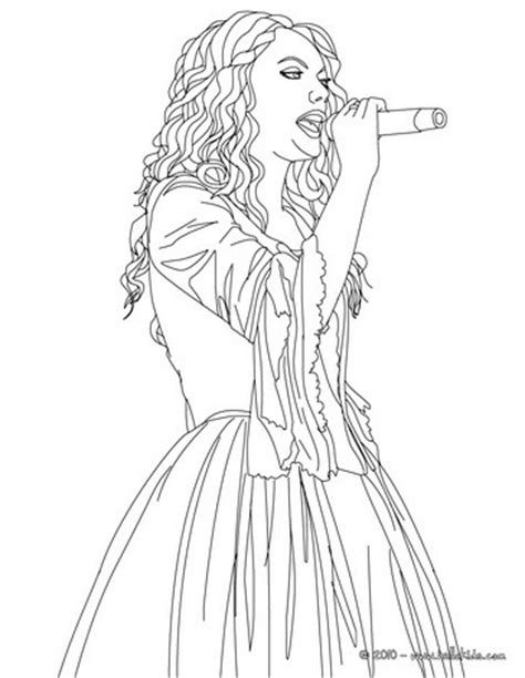 taylor swift coloring pages easy taylor swift singing close up coloring pages hellokids com