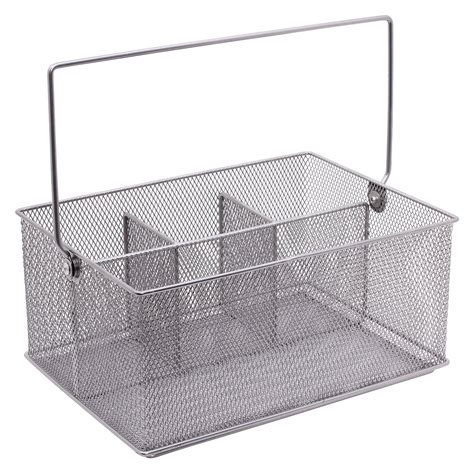 condiment caddy for tables decor mesh condiment caddy silver for kitchen and dining