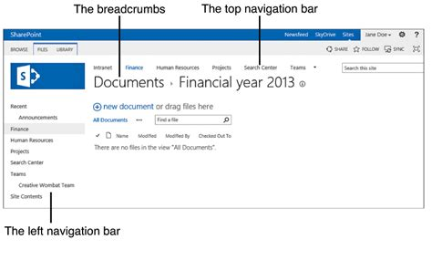 sharepoint 2013 top navigation bar top left navigation bar sharepoint 2013 stack overflow