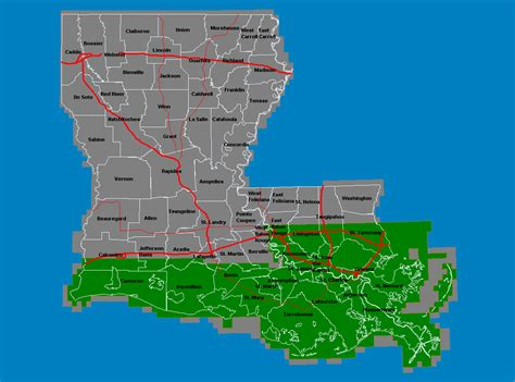 louisiana coast map louisiana coastal zone map map
