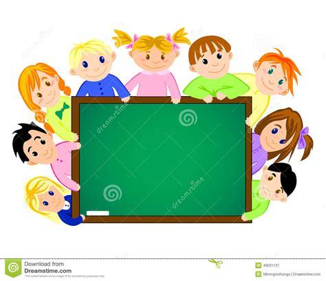 imagenes escolares para diapositivas ni 241 os cerca del consejo escolar ilustraci 243 n del vector