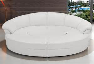 Circular Sectional Sofa Divani Casa Circle Modern Bonded Leather Circular Sectional 5 Sofa Set Divani Casa