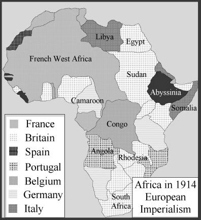 africa map imperialism the age of imperialism