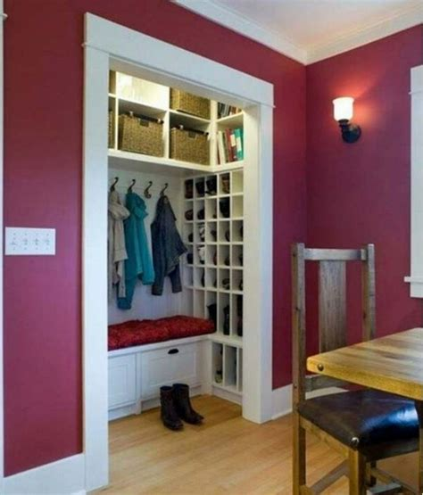 Front Closet Organization Ideas by 17 Best Ideas About Entryway Closet On Closet