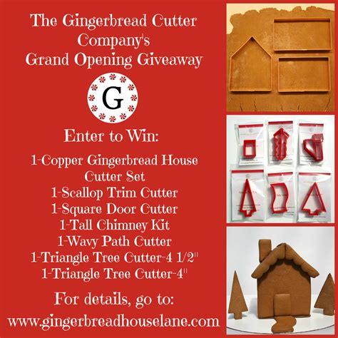 Grand Opening Giveaway - grand opening giveaway closed gingerbread house lane