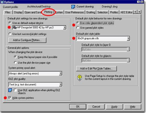 autocad layout nedir adt deployment guide part 3 options autocad settings