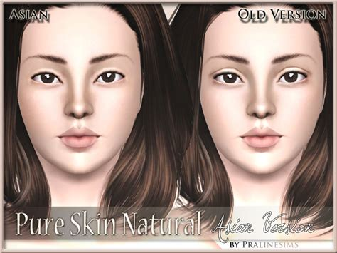 sims 3 cc skin color pralinesims pure skin natural asian version