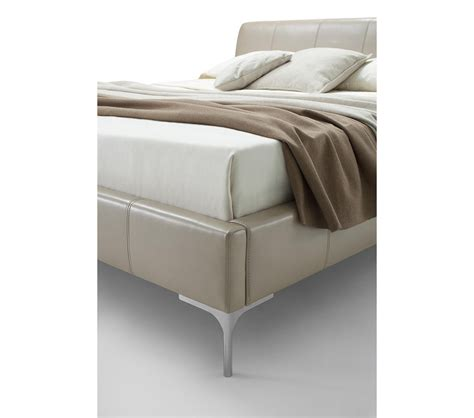 modern leather beds dreamfurniture com lima modern brown eco leather bed