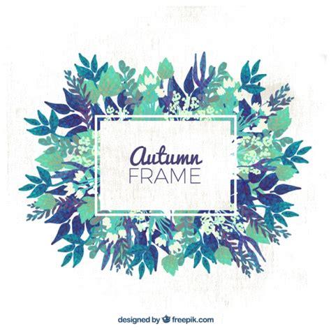 cornice gratis cornice autunnale con i fiori scaricare vettori gratis