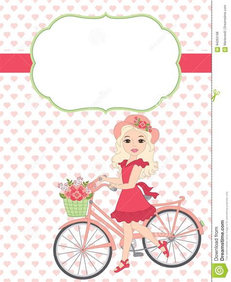bicycle birthday card template vector card template with a beautiful and bicycle on