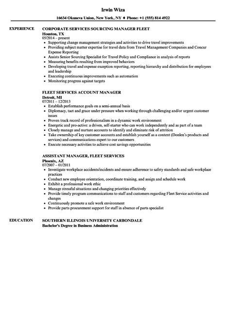 Fleet Manager Sle Resume by Fleet Services Manager Resume Sles Velvet