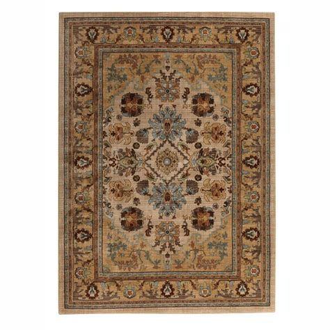 Charisma Bath Rugs Home Decorators Collection Charisma Butter Pecan 5 Ft X 8 Ft Area Rug 406349 The Home Depot