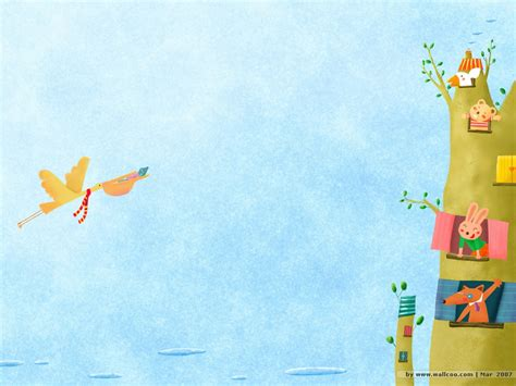 cartoon wallpaper good morning sweet children s illustration good morning 1024x768 no