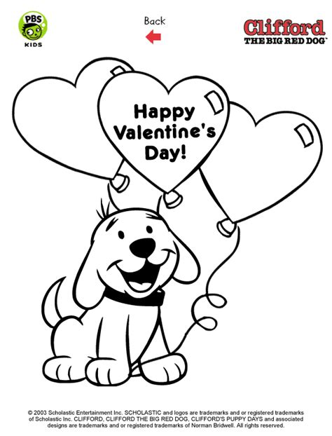 puppy clifford free coloring pages of clifford the