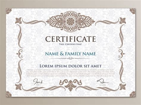 certificate template psd invitation template