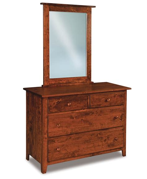 Amish Dresser by Shaker 4 Drawer Dresser Amish Direct Furniture