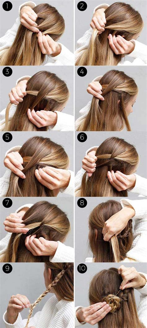 hairstyles for straight hair with braids step by step 31 amazing half up half down hairstyles for long hair