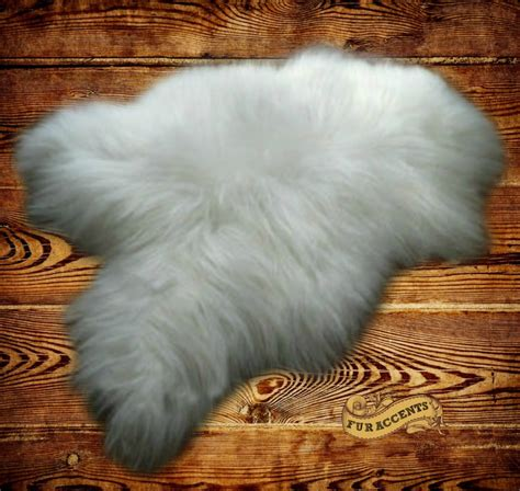 fur accent rug thick white mountain sheepskin faux fur rug by fur accents