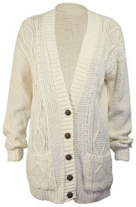 chunky cable knit cardigan s luxury sleeve chunky button cable knit