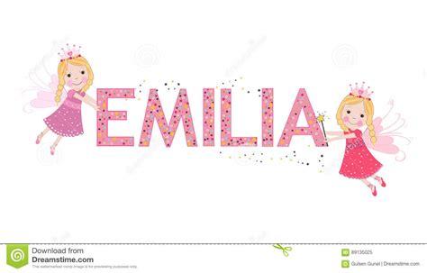 cuentos completos de emilia 6073142471 nombre femenino de emilia con cuento de hadas lindo ilustraci 243 n del vector imagen 89135025