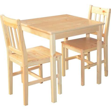 table cuisine pin massif table de cuisine en pin massif 2 chaise palerme achat