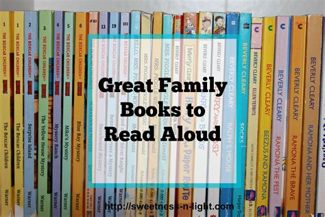 7 Cool Books To Read by Great Family Books To Read Aloud Sweetness N Light
