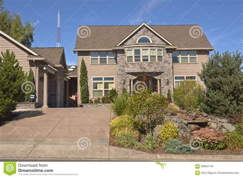 comfort mansion happy valley mansion home and garden happy valley oregon stock photo